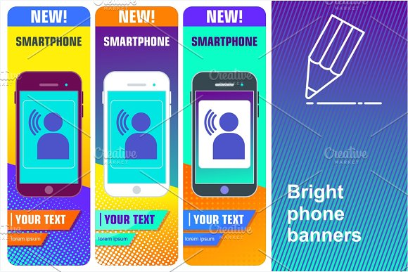 Bright Phone Banners