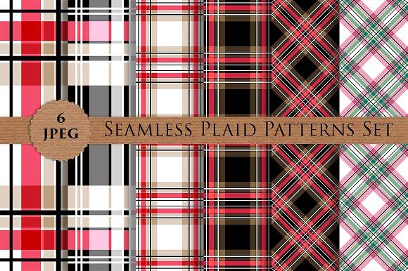 PLAID CHECKERED Seamless Patterns