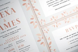 Simple Flower Wedding Suite