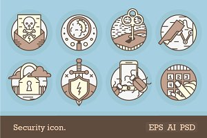 Protection And Safety Icons.