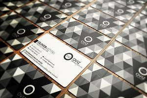 Abstract Black & White Business Card
