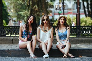 Three beautiful young girls