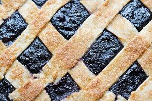 Blueberry Pie Lattice Crust