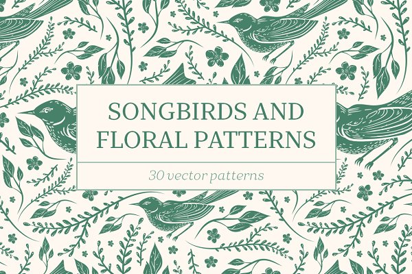 Songbirds and Floral patterns -45%