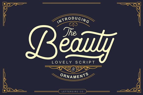 The Beauty Script Ornaments