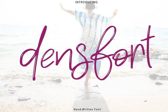 New Densfort Handwritten Font