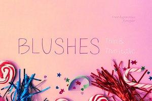 Blushes—Thin & Thin Italic