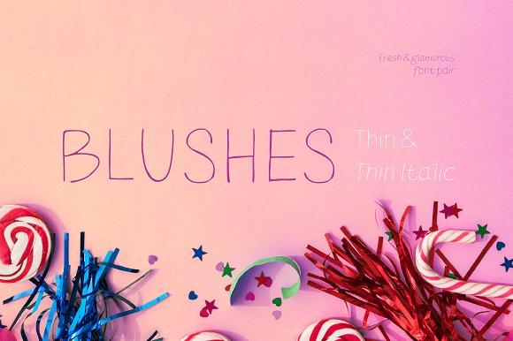 Blushes-Thin Thin Italic