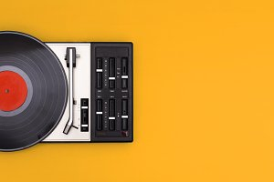 retro turntable header