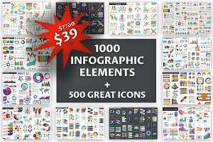 1000 Big Bundle Infographic Element