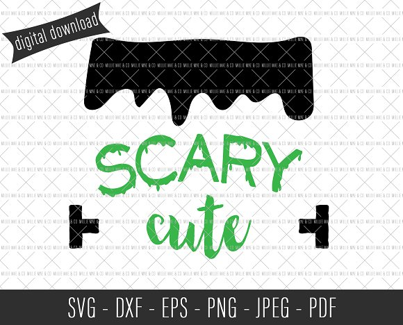 Scary Cute Frankenstein SVG