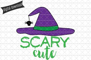 Scary Cute Witch SVG