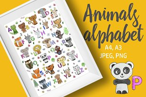 Animals alphabet poster