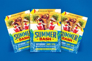 Summer Spring Bash Flyer