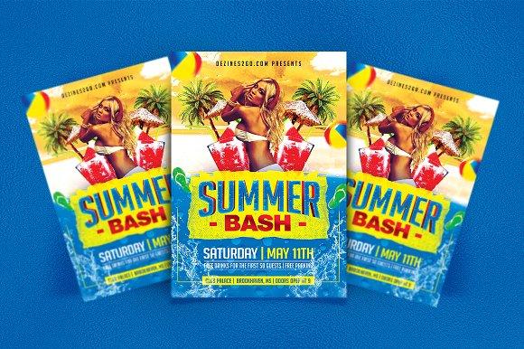 Summer Spring Bash Flyer