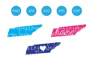 Tennessee SVG Cut Files and Clipart