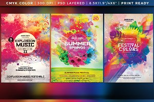Colorful Flyer/Posters Bundle Vol 9