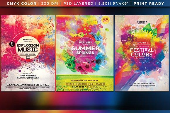 Colorful Flyer Posters Bundle Vol 9