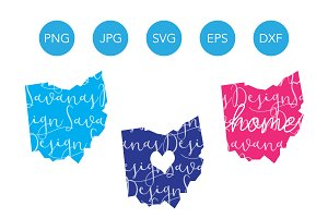 Ohio SVG Cut Files and Clipart