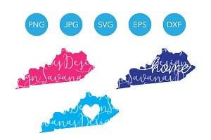 Kentucky SVG Cut Files and Clipart