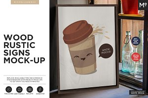 Wood Rustic Signs Mock-ups Generator
