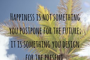 Happiness Quote Graphic