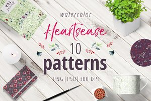 Heartsease pattern set