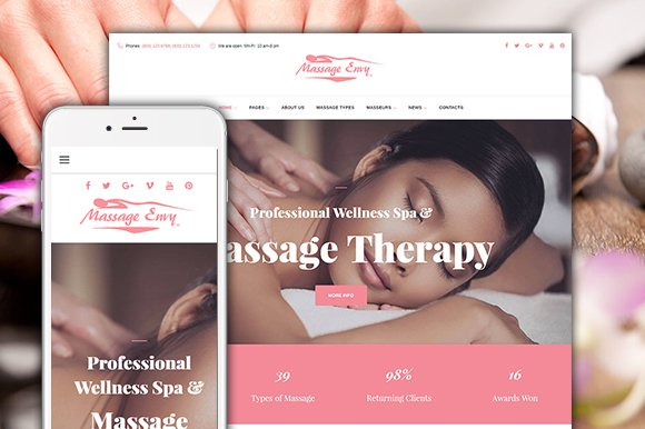 Massage SPA Salon Wordpress Theme