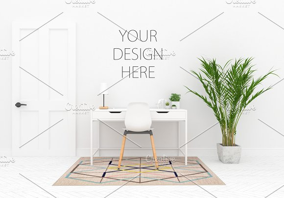 Interior Mockup Blank Wall Mock Up