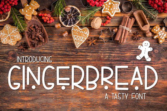 Gingerbread A Tasty Font