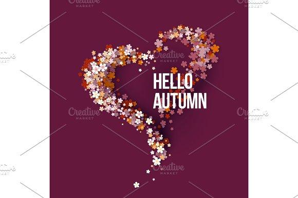 Hello Autumn Title Texts Poster