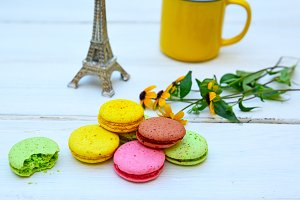 Colored cakes macarons