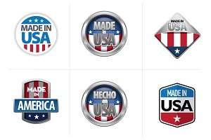 Made in USA Badges