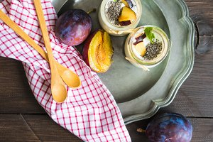 Organic yogurt with chia seeds