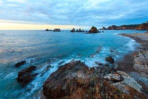 Summer Atlantic coastline