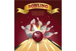 Bowling club poster