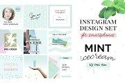 Instagram design set - Mint Icecream