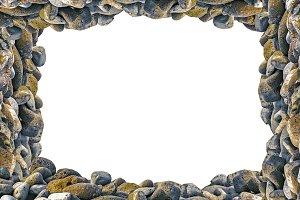Landscape Frame with Rocks Borders