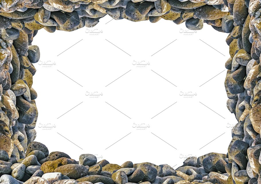 Landscape Frame with Rocks Borders ~ Abstract Photos ~ Creative Market