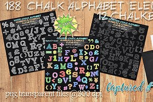 188 Chalk Alphabet Elements & Paper