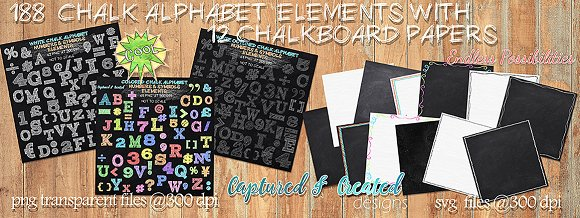 188 Chalk Alphabet Elements Paper