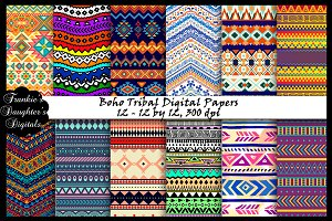 Boho Tribal Digital Papers