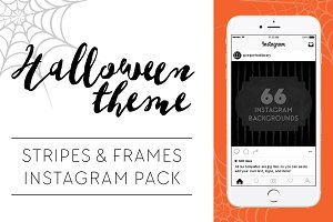 Stripes & Frames Halloween Theme