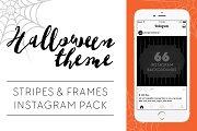 Stripes & Frames Halloween Theme