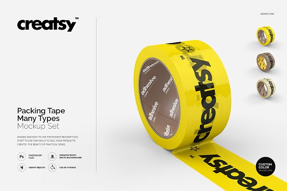 Download Packing Tape Many Types Mockup Set