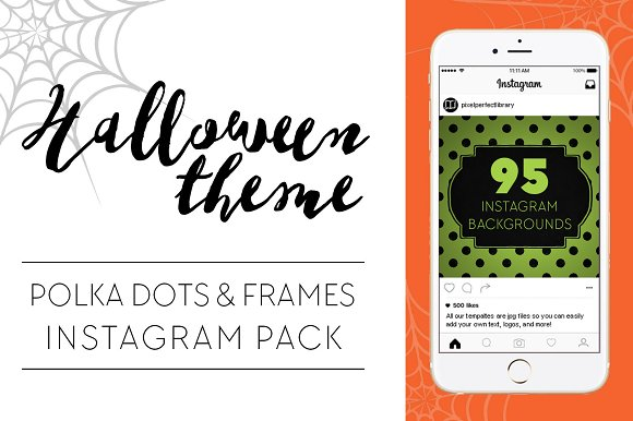 Halloween Theme Dots and Frames