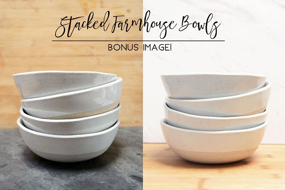 Stacked Farmhouse Bowls