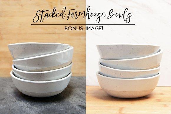 Stacked Farmhouse Bowls