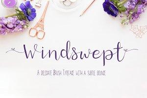 Windswept a bounce brush font
