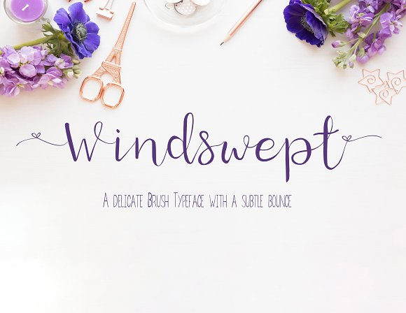 Windswept A Bounce Brush Font